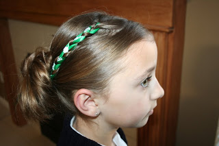 Accent Braid into Messy Bun | St Patrick's Day Hairstyles