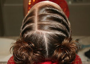 Top view of the Triple Twists into Twisty Buns
