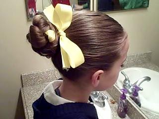 Braided Bun w/Ribbon | Updo Hairstyles