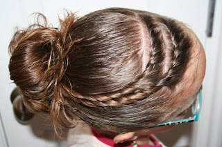 Cute Hair Twists into Messy Buns