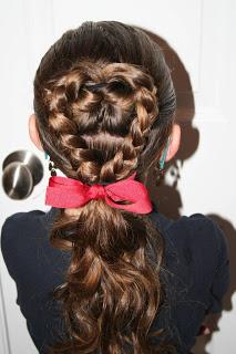 Valentine's Day Hairstyle: Flip-Braided Heart