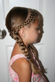 """Back to School Hairdo: French """"Doubled-Up"""" Braids"""